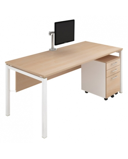 Lex Standard Desk 1200 with modesty panel