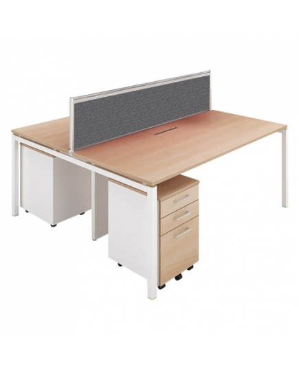 Lex 2 Workstations (with screen panels) 1500