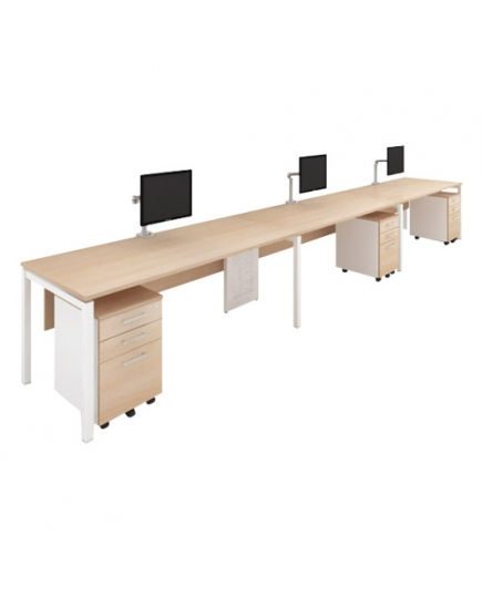 Lex 3 Workstations (with modesty panel)