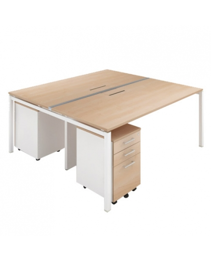 Double Side Workstation With Trunking 1500
