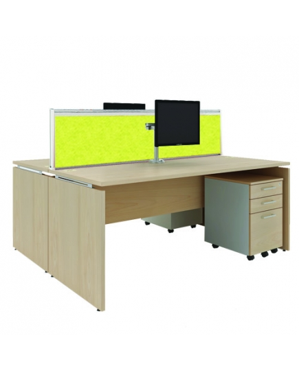 Mente 2 Standard Desks (with screen panels) 1400