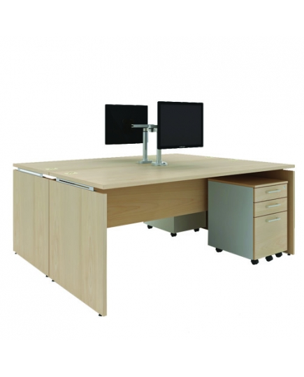 Mente 2 Standard Desks (without screen panels) 1500