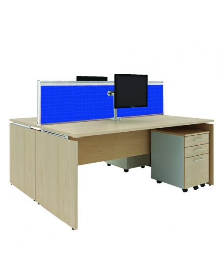 Mente 2 Standard Desks (with screen panels) 1500